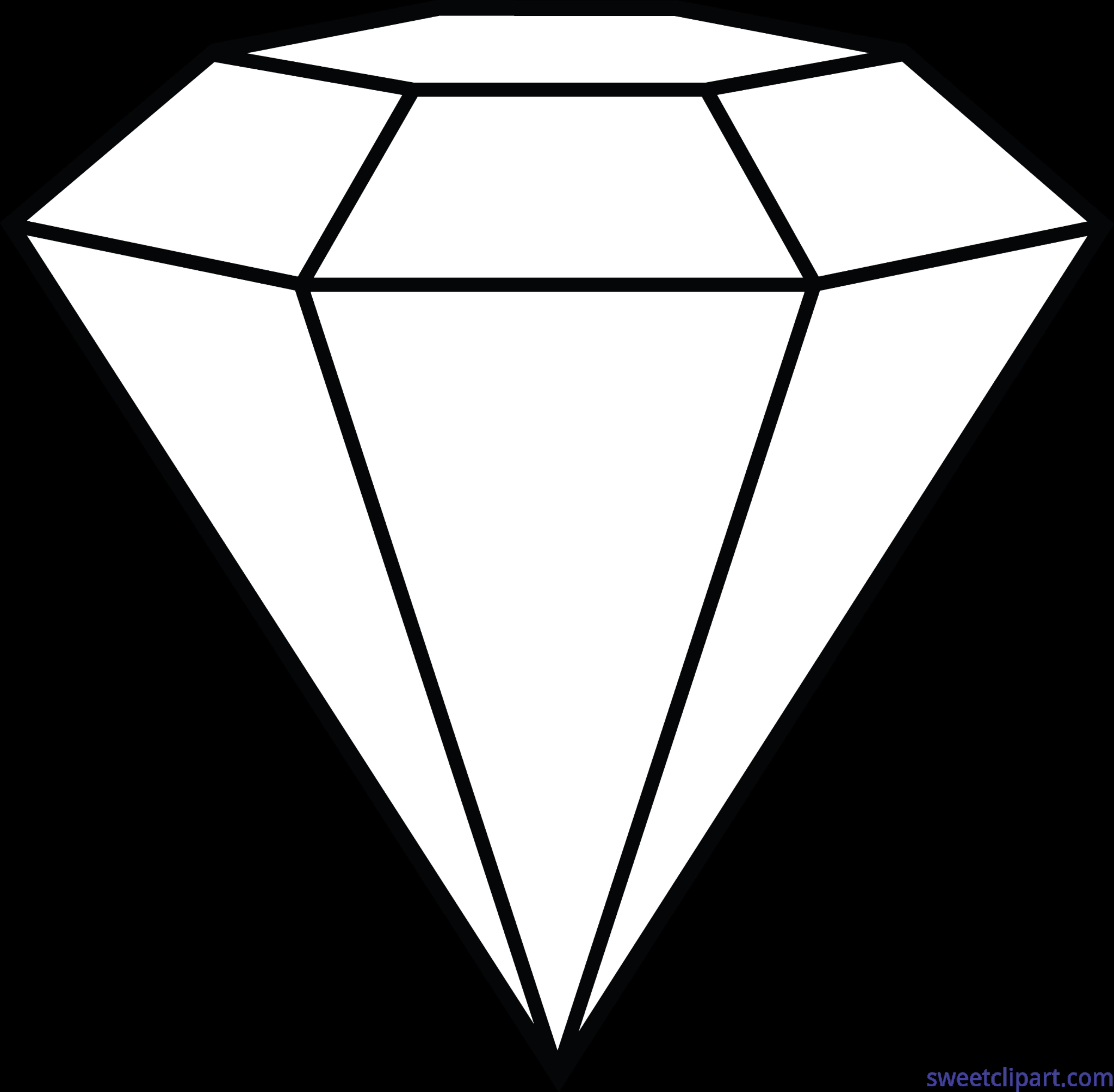 Diamond lineart clip art. Diamonds clipart triangle