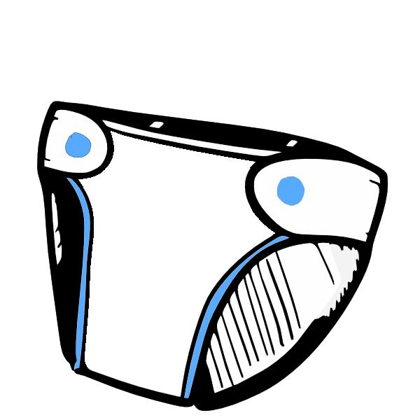 Diaper clipart. Blue clip art at