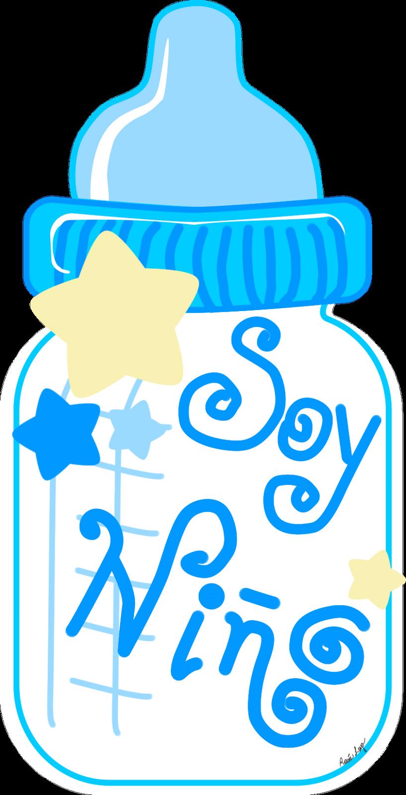 Biberonazul png baby boy. Streamers clipart light blue