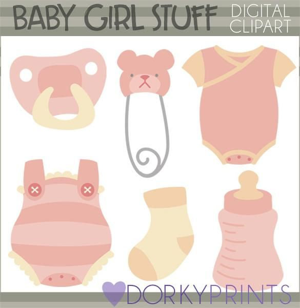 Girl babies watercolor and. Diapers clipart baby clothes