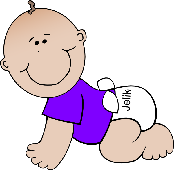Clip art at clker. Diaper clipart baby walking