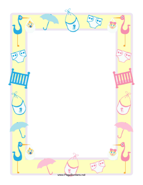 Diaper clipart banner. This baby shower border