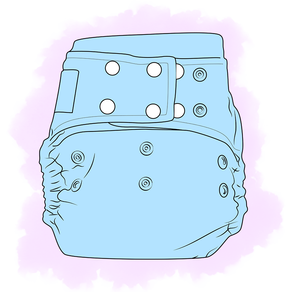 Snap cloth moo kow. Purple clipart diaper