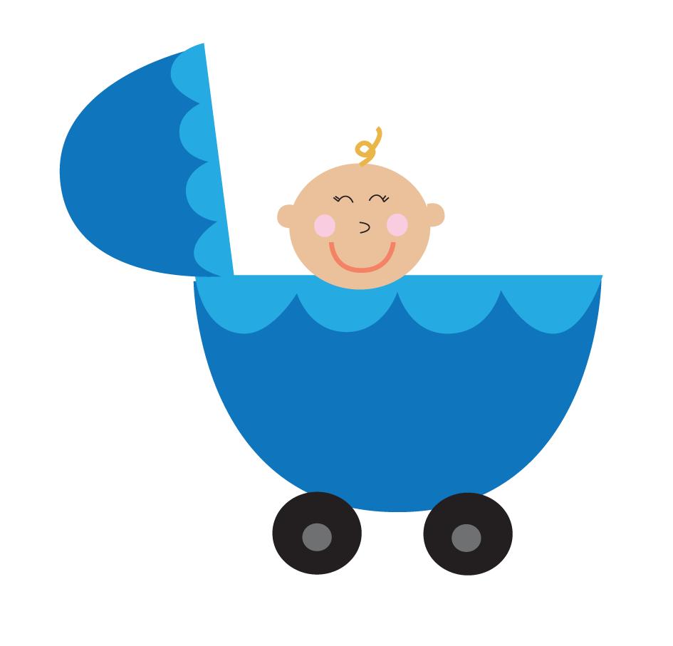 Diaper clipart cartoon little girl. Baby boy carriage free