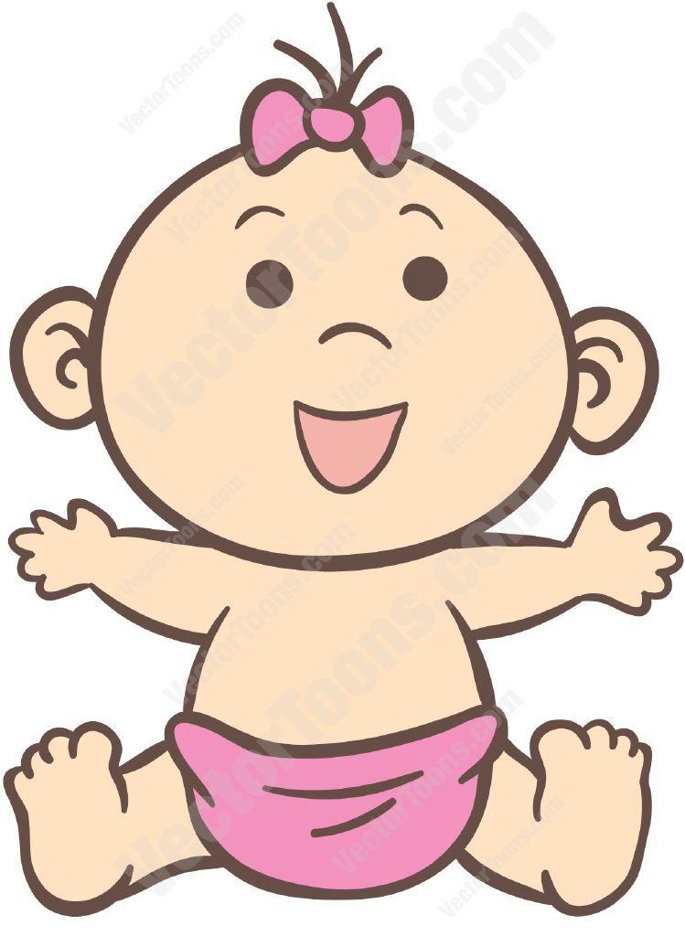 Diaper clipart cartoon little girl. Vectortoons com things i
