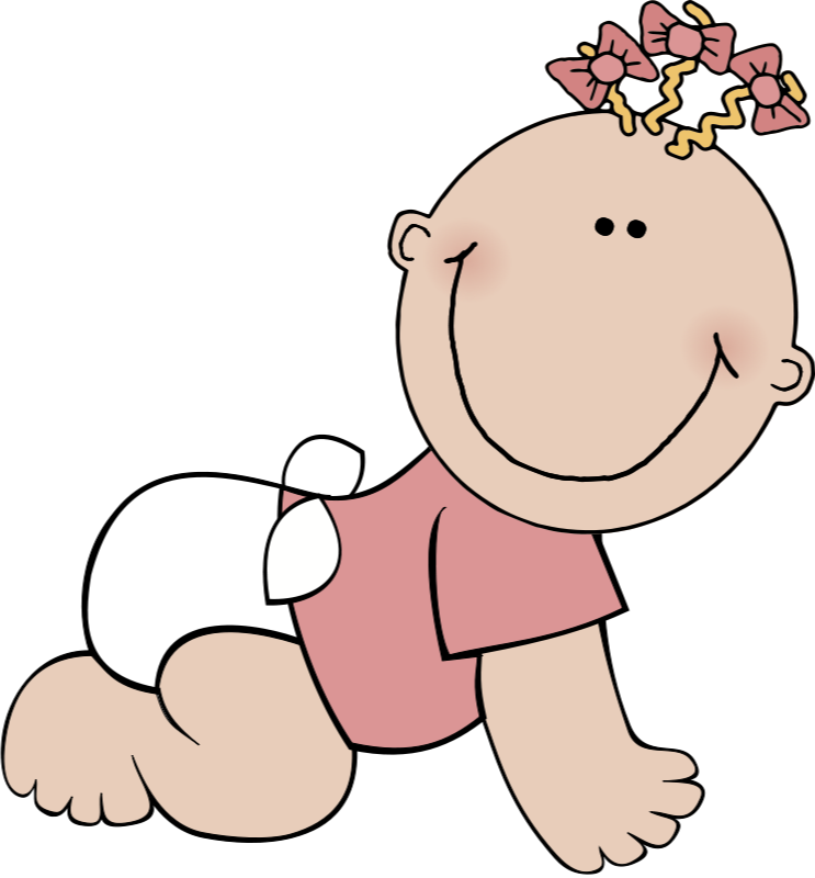 Infant clip art baby. Diaper clipart crawling