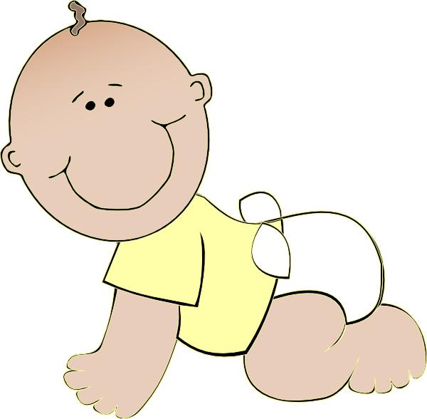 Baby crawling clip art. Thumb clipart neutral