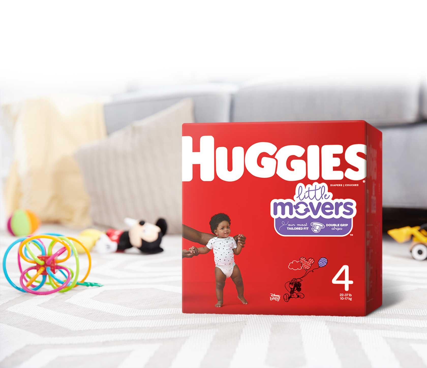 Huggies little movers diapers. Diaper clipart diaper box