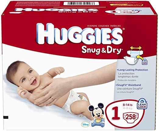 Huggies snug dry diapers. Diaper clipart diaper box