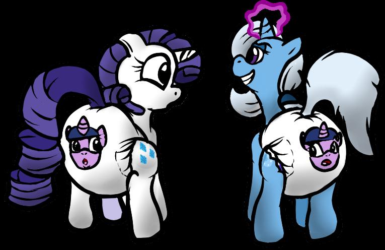 Trixie s transformation spell. Diaper clipart diaper change