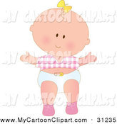 Diapers clipart first step. Royalty free stock cartoon