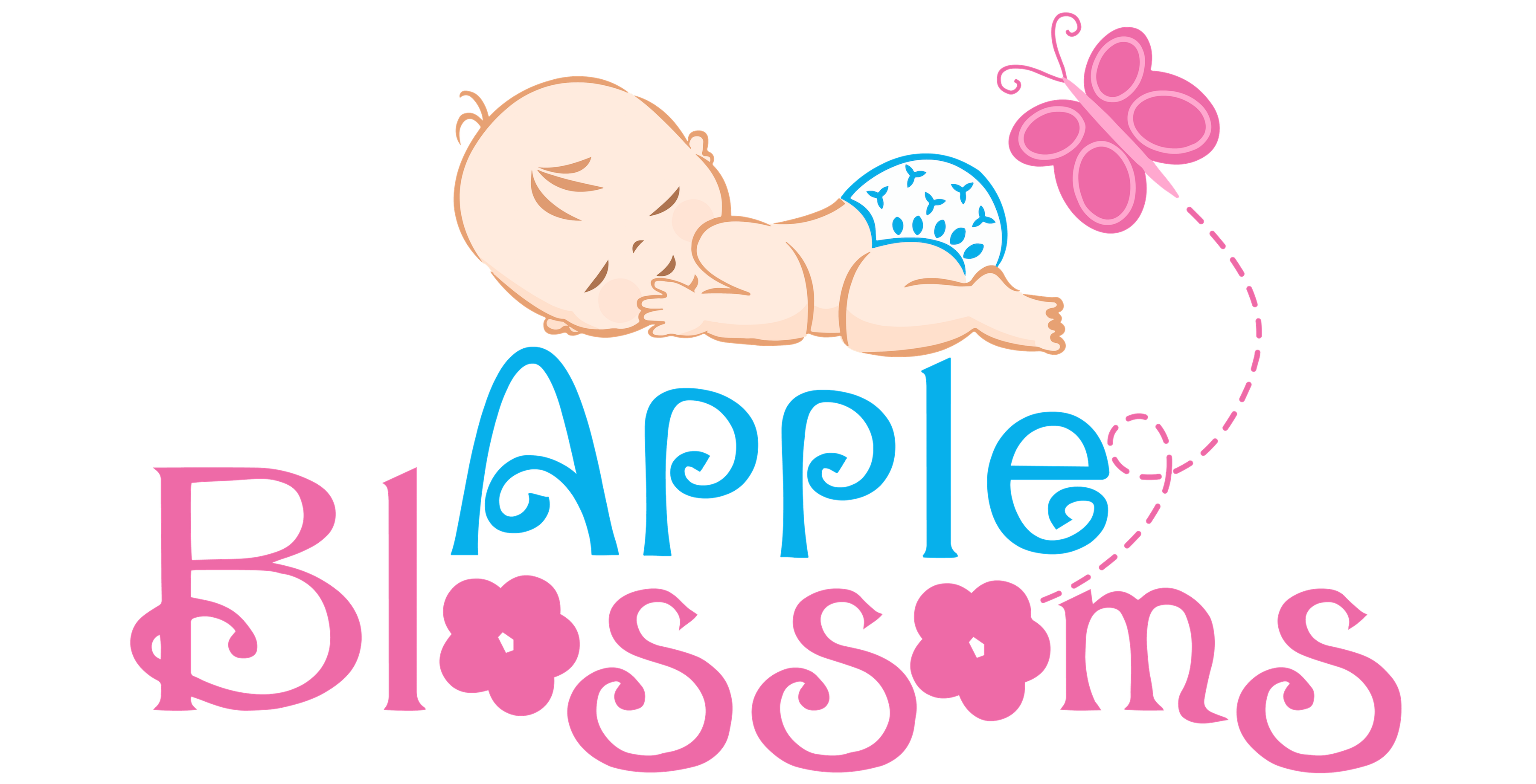 Apple blossoms online cloth. Diapers clipart pink diaper