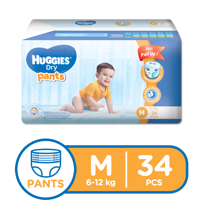 Huggies dry pants medium. Diaper clipart pullup