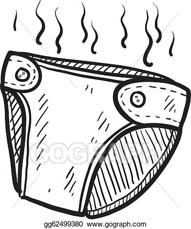 Eps vector sketch stock. Diaper clipart smelly diaper