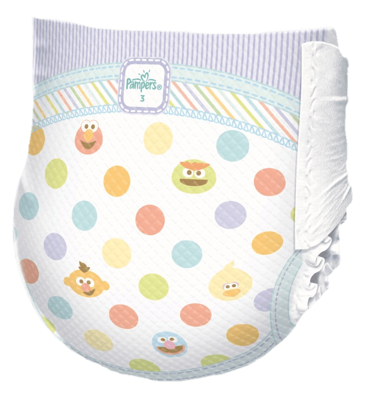 Pampers transparent png stickpng. White clipart diaper