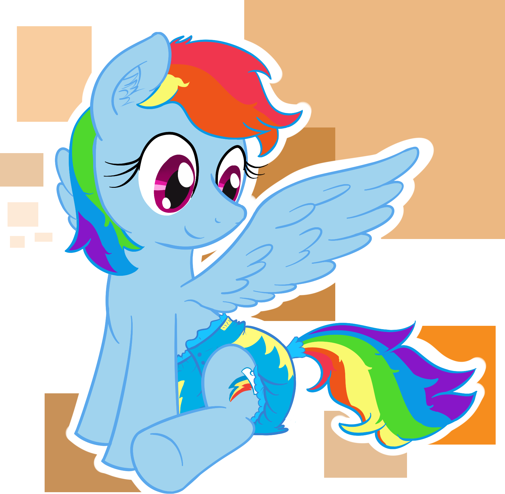 Image rainbow dash on. Diaper clipart used diaper