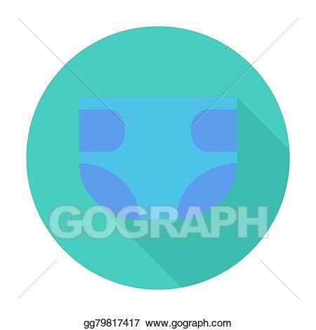 Diaper clipart used diaper. Eps illustration vector gg