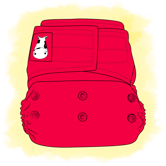Moomookow diapering with option. Diaper clipart walk