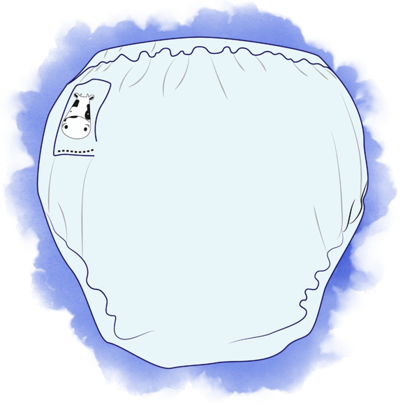 Diaper clipart walk. Moomookow diapering with option