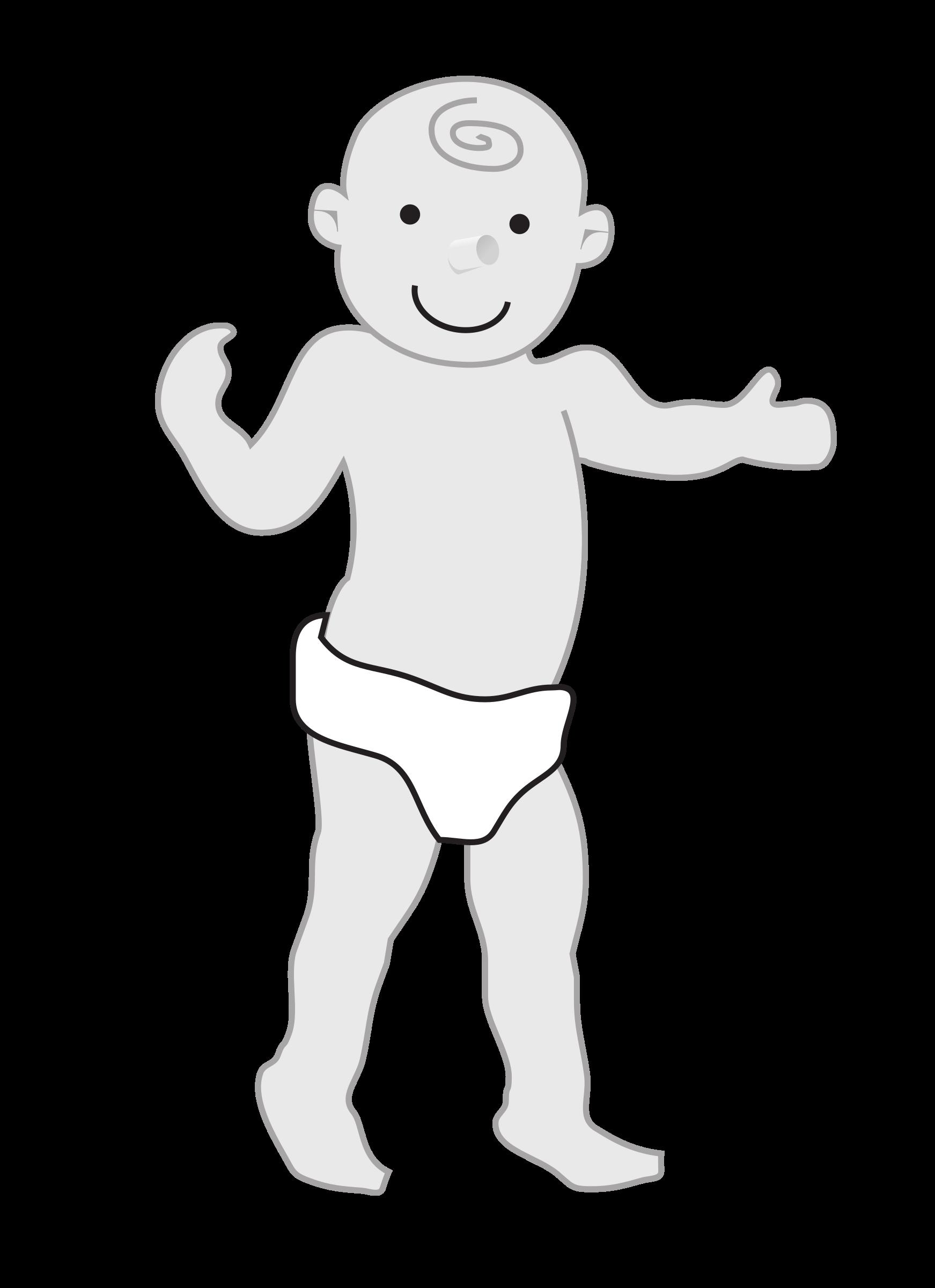 Diaper clipart walk. Baby standing big image
