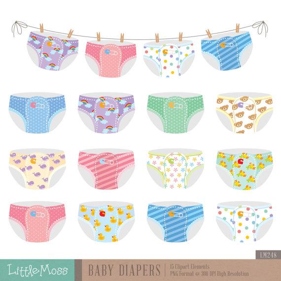 Baby digital from littlemoss. Diapers clipart