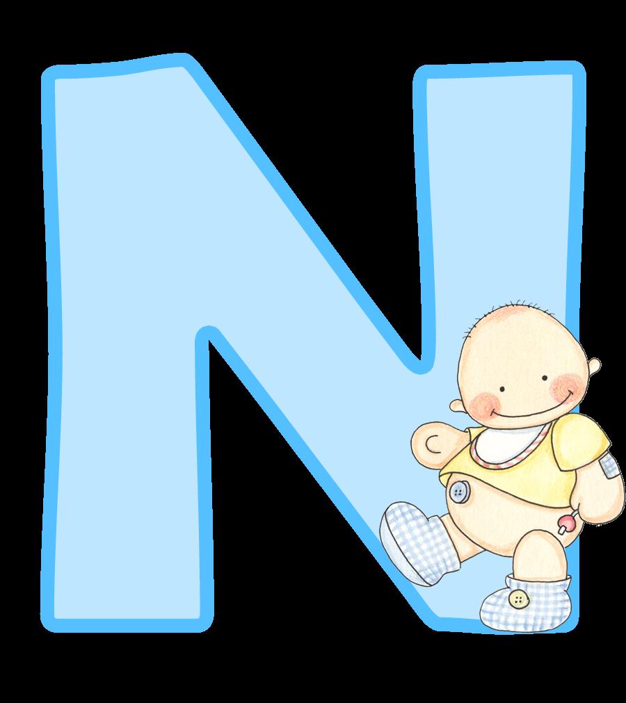 Alfabeto con lindo beb. Letters clipart baby