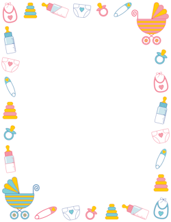 Shower border craft art. Diapers clipart baby boarder