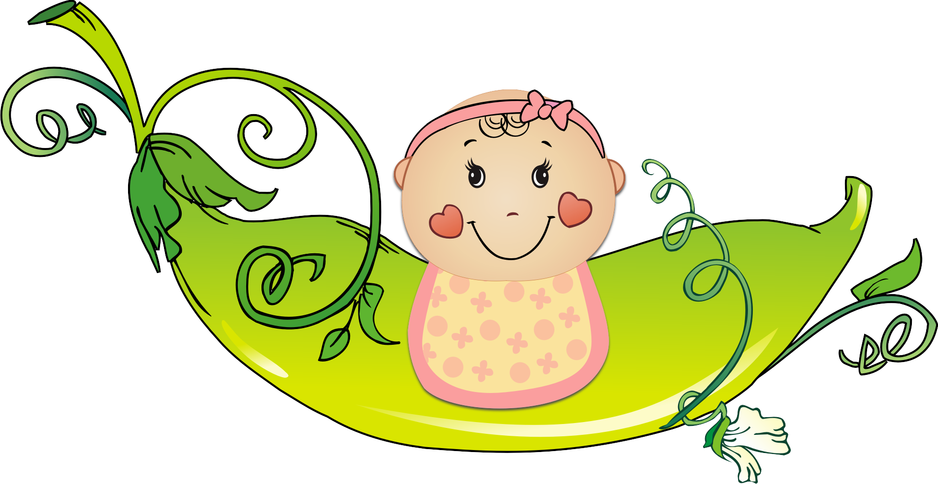 Diapers clipart baby girl. Diaper shower pea twin