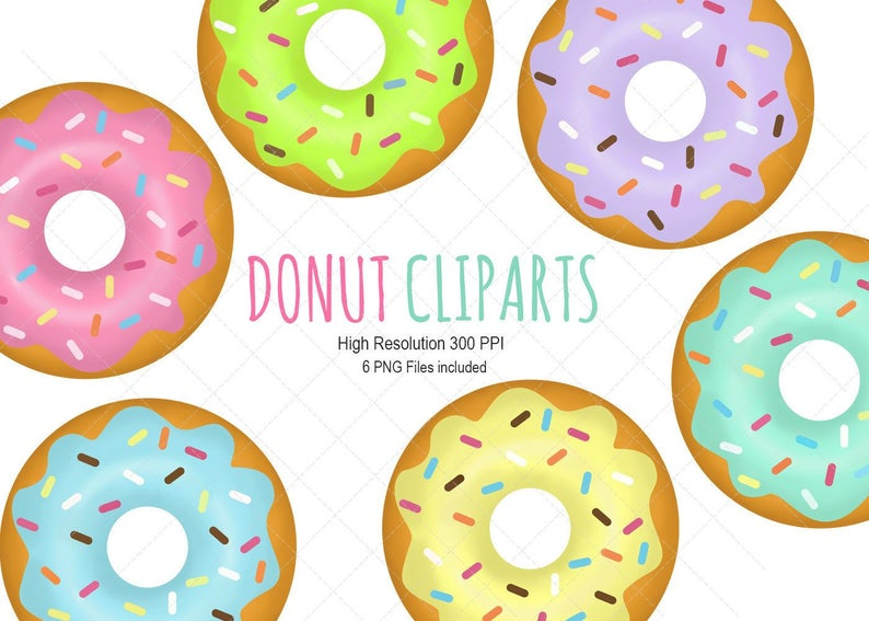 Donuts clip art instant. Donut clipart vintage