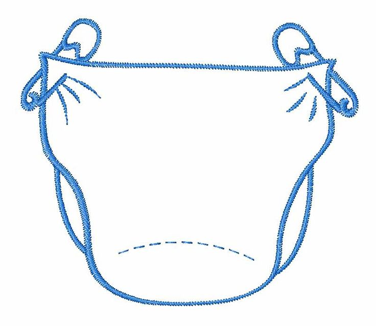 Diapers clipart outline. Free diaper cliparts download