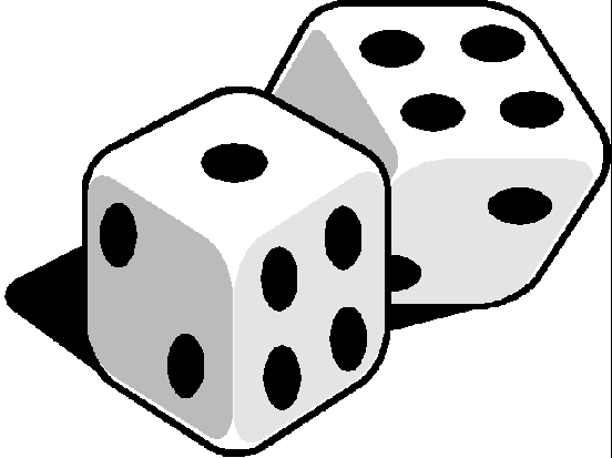 Dice clipart. Clip art game with