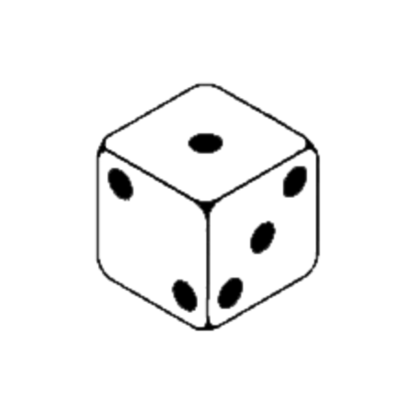 Rolling panda free images. Dice clipart