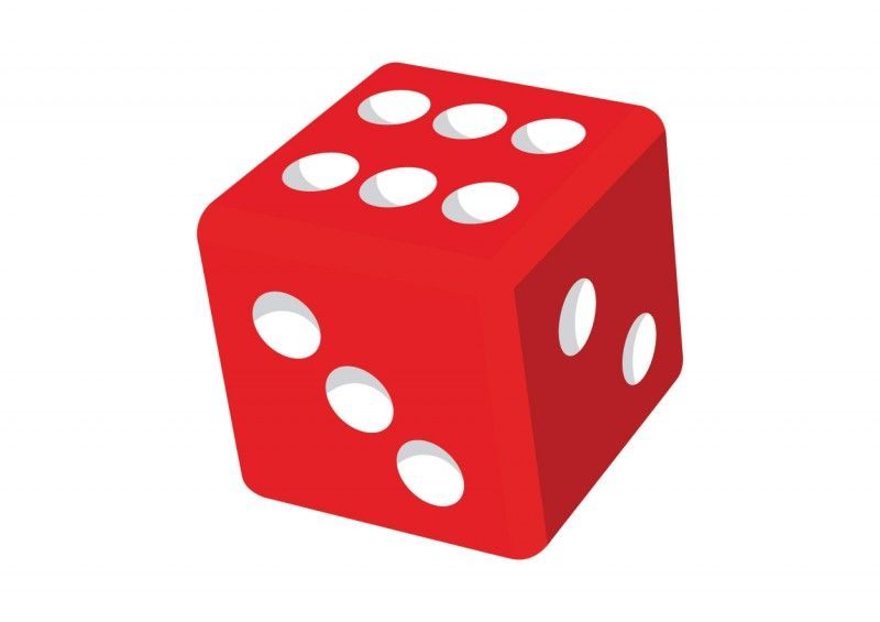 Red games clip art. Dice clipart