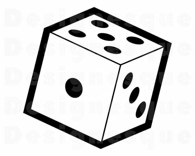 Dice clipart. Svg rolling files for