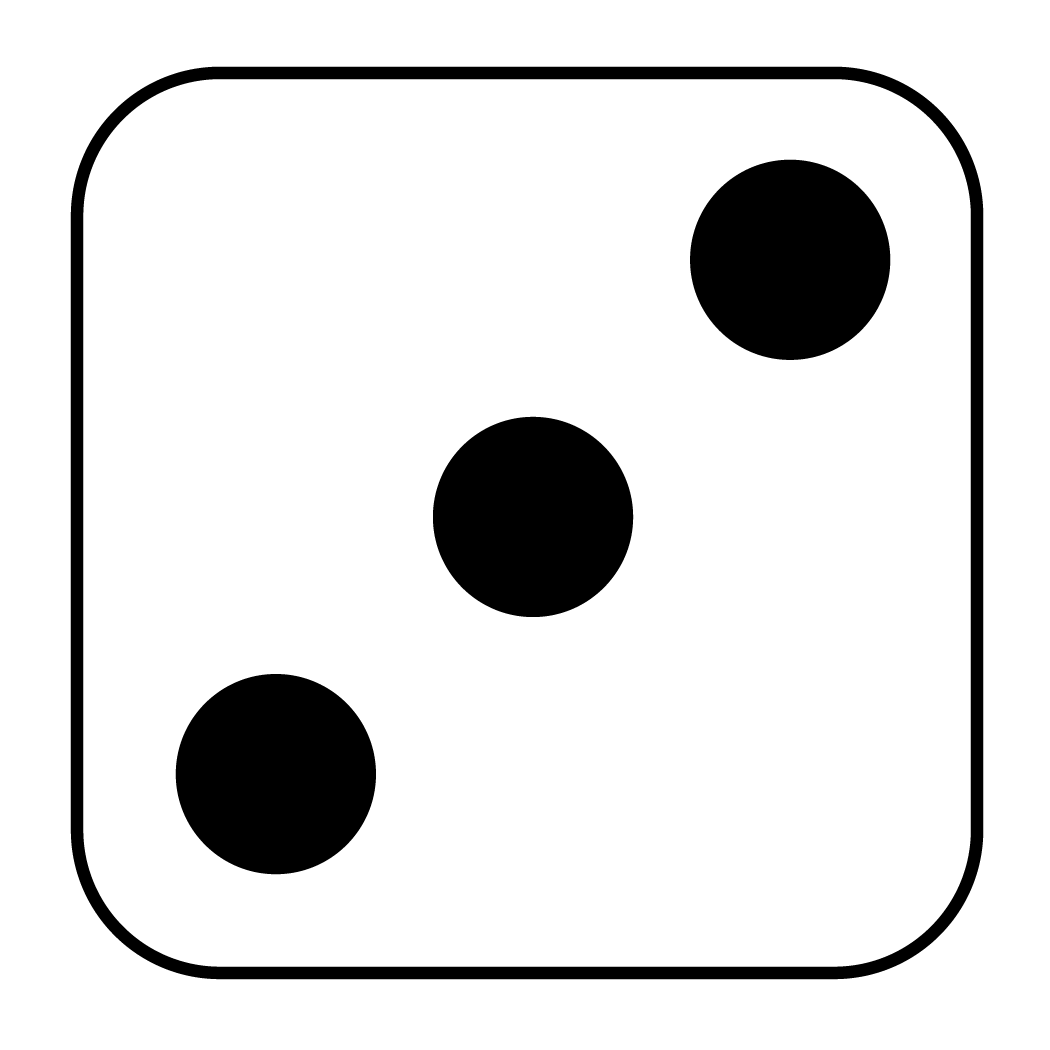 Number 1 clipart black and white. Dice free download best