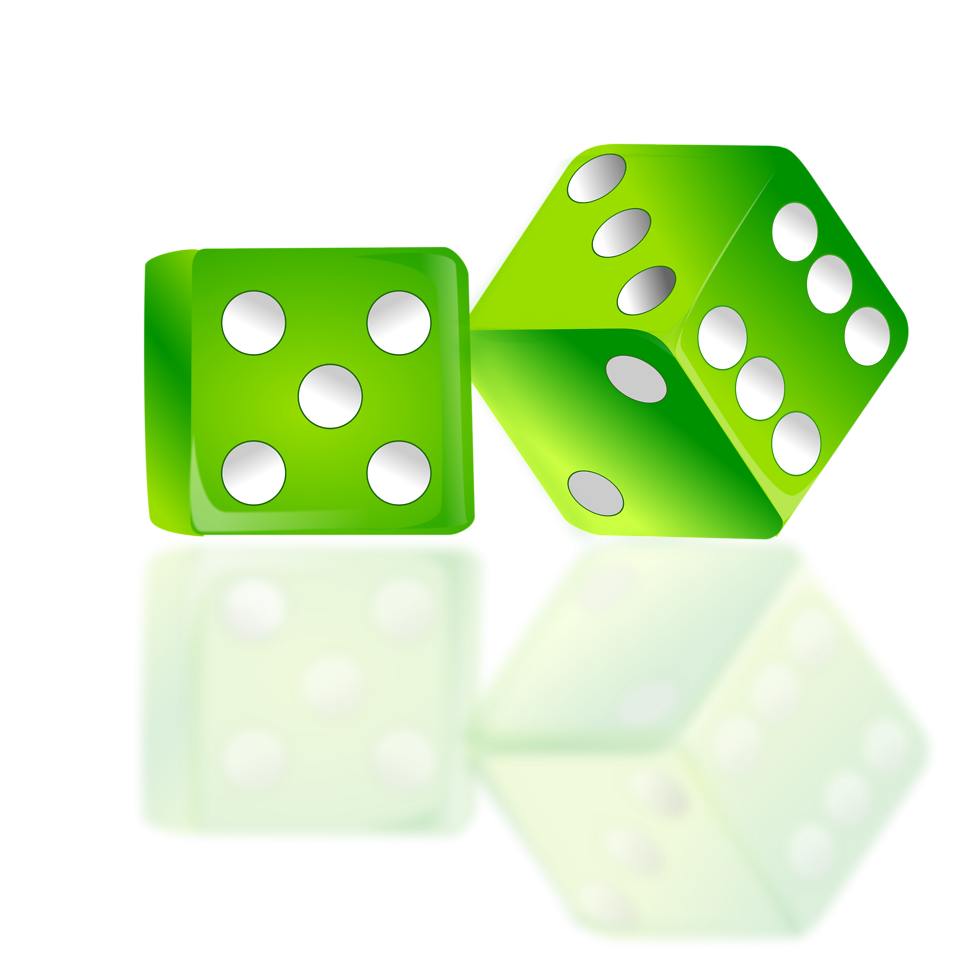 Free stock photo illustration. Gaming clipart roll dice