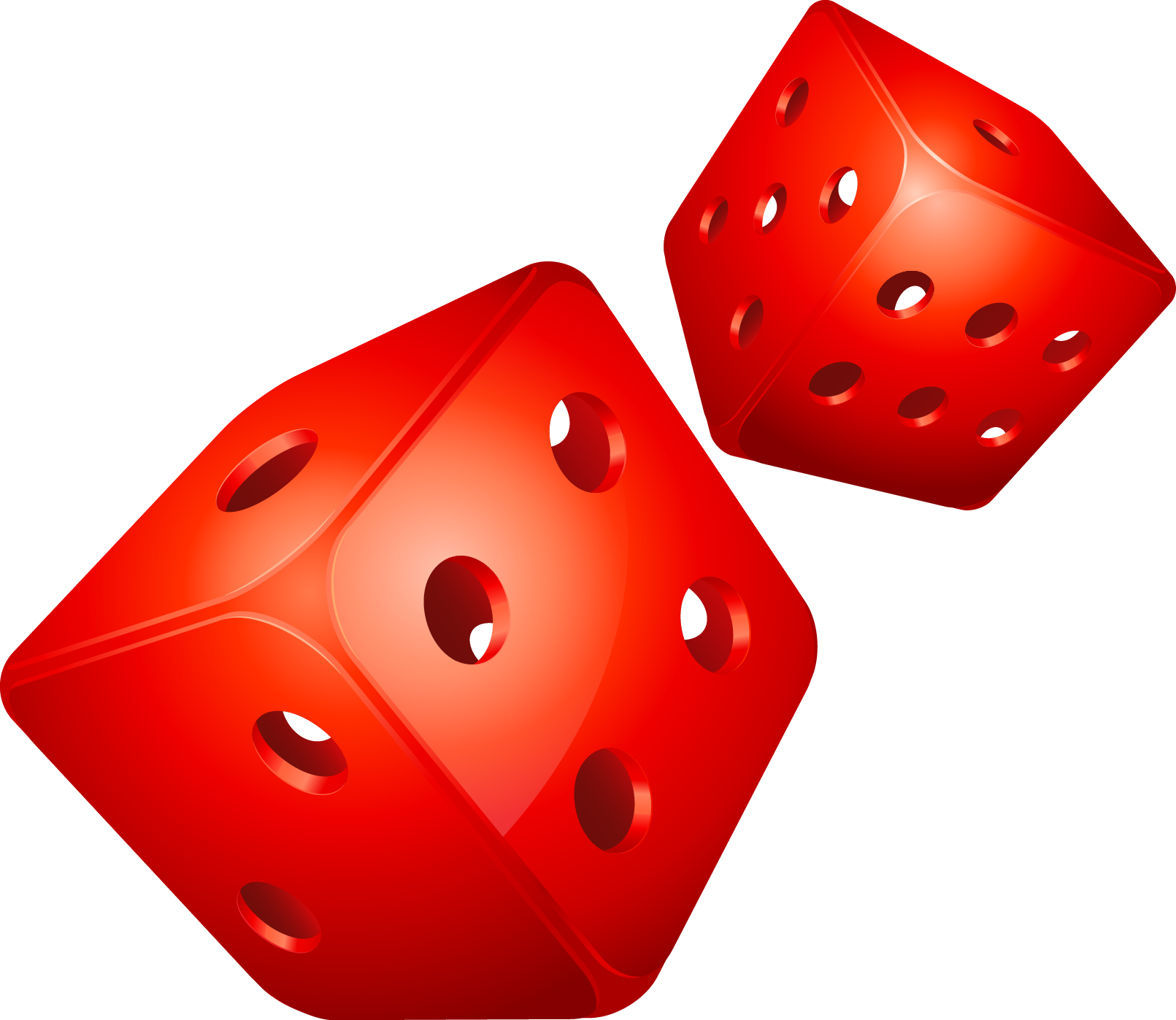 Dice clipart colored dice. Public domain free on