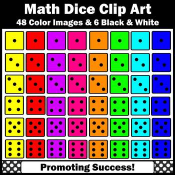 Dice clipart colored dice. Colorful for commercial use
