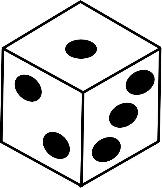 Dice clip art at. Game clipart ludo