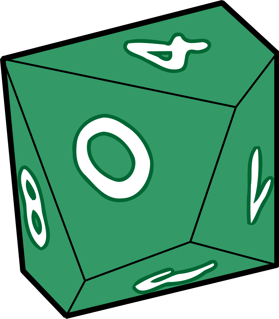 File green d svg. Dice clipart d10