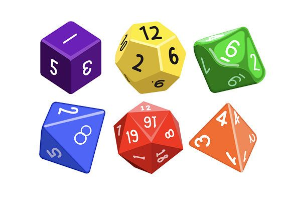 Gaming dungeons and dragons. Dice clipart d10