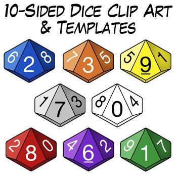 sided clip art. Dice clipart d10