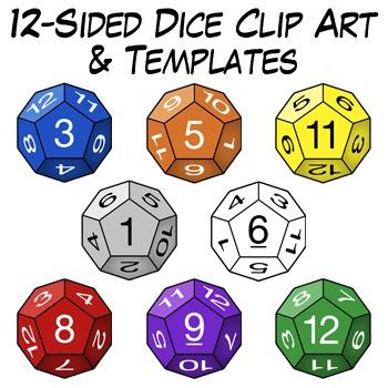 sided clip art. Dice clipart d12