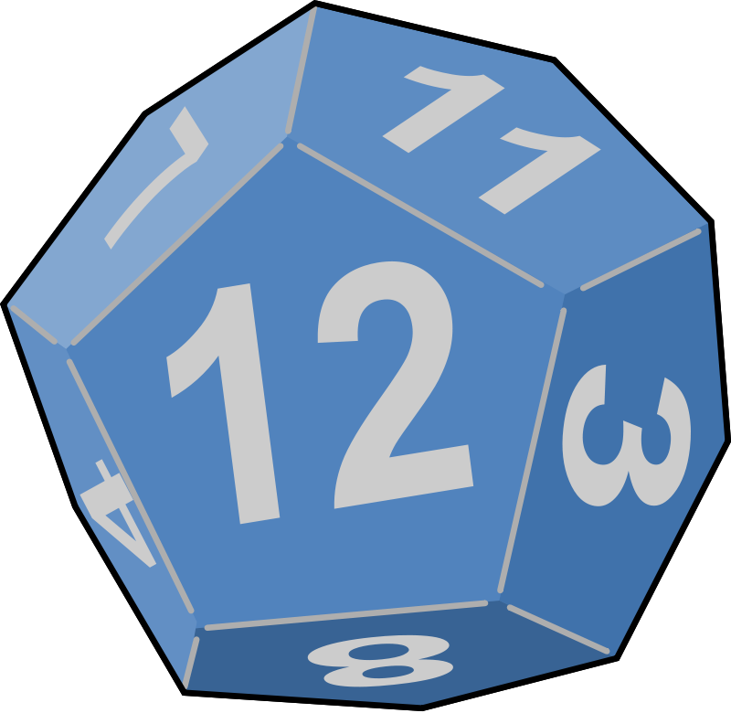 Dice clipart d12. Free images of download