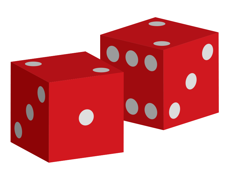 Dice clipart different color. Vector pencil and in