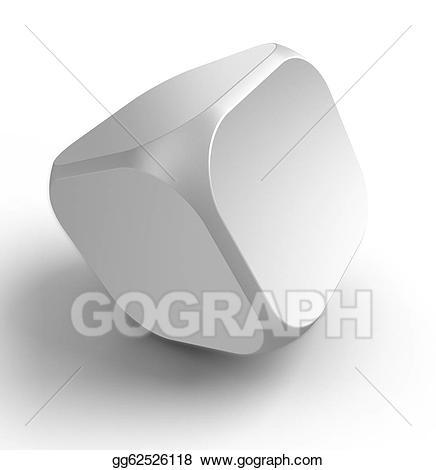 White shape cube stock. Dice clipart empty