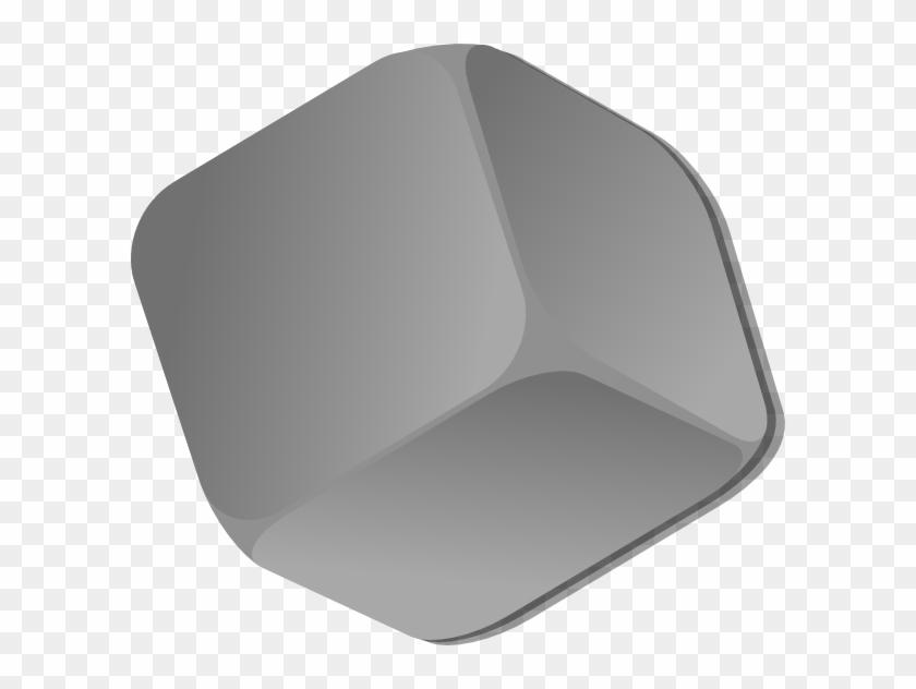 Dice clipart empty. Grey cube clip art