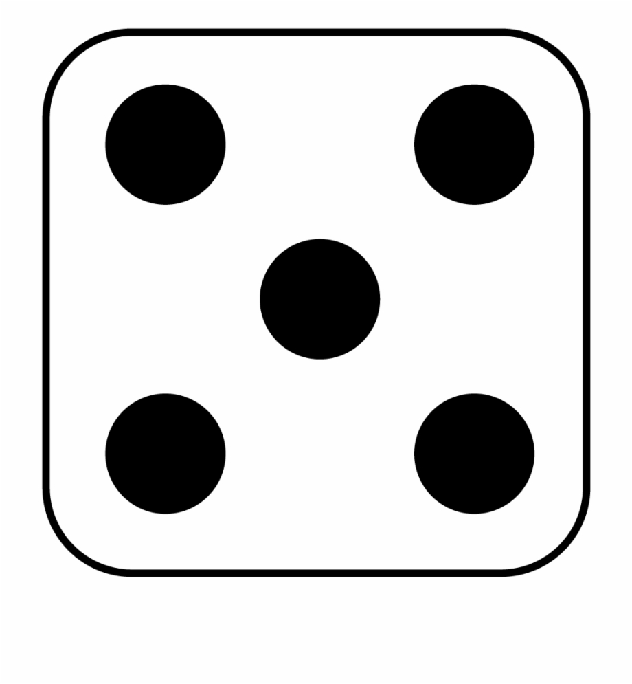 Dots side of dice. Dot clipart five