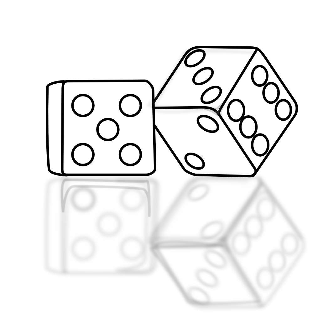 Coloring pages for page. Dice clipart free printable