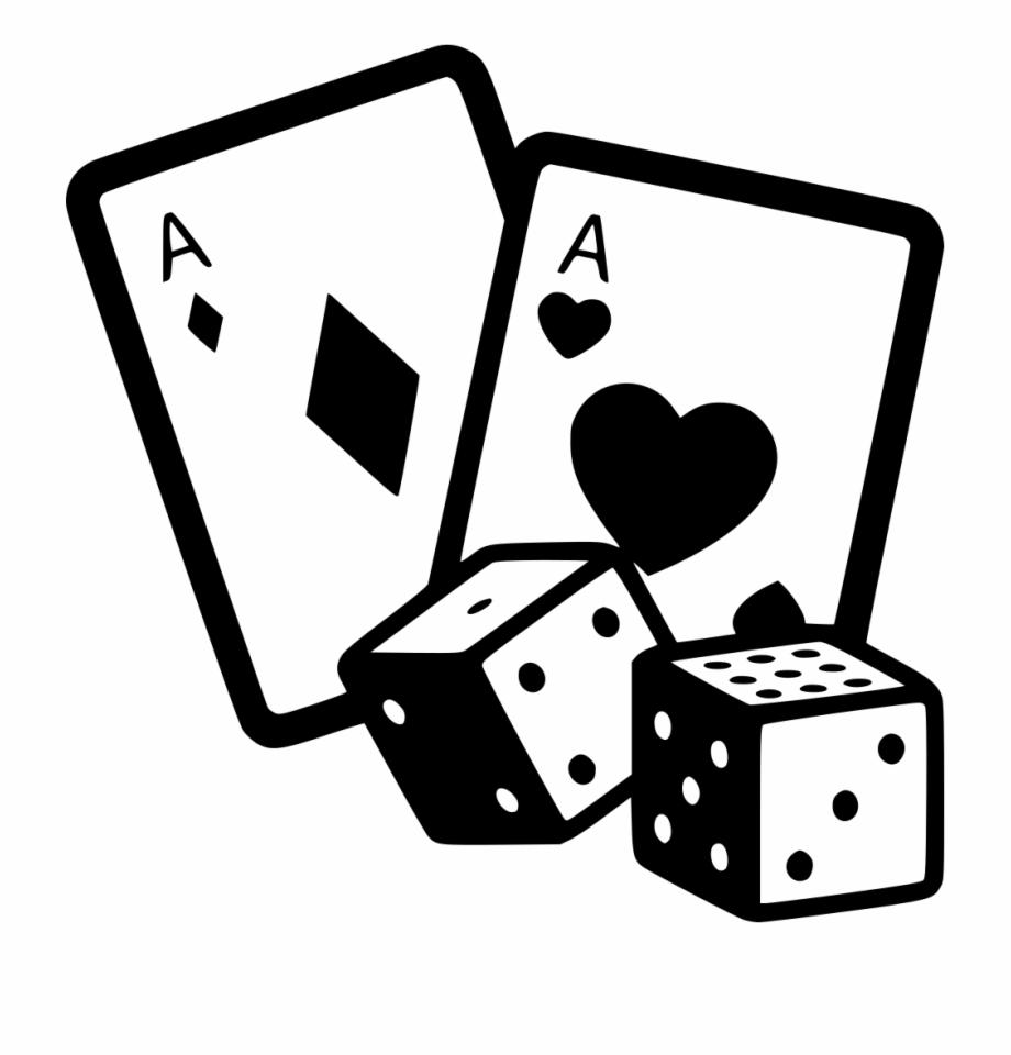 Game gambling casino cards. Dice clipart gamble